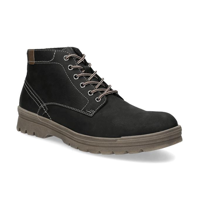 Pánska zimná kožená obuv weinbrenner, čierna, 896-6107 - 13