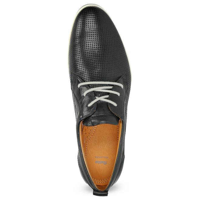 Ležérne kožené poltopánky bata, čierna, 824-9124 - 17