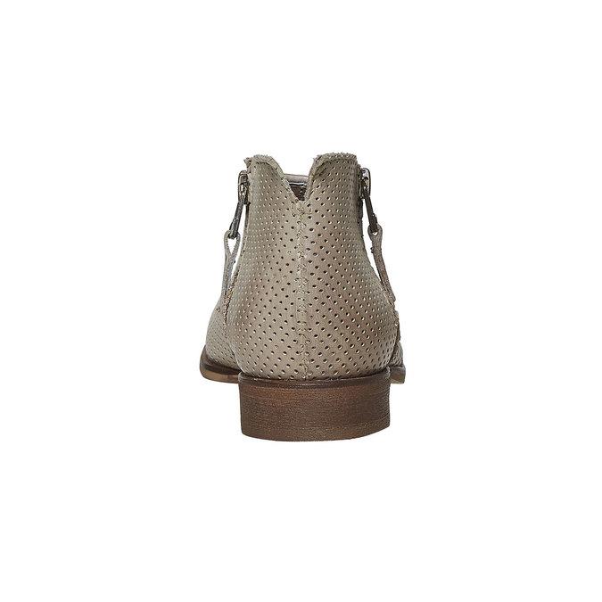 Kožené členkové čižmy bata, béžová, 594-2400 - 17