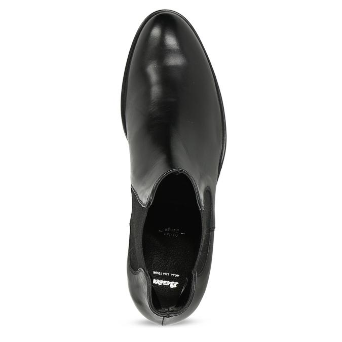 Kožená dámska Chelsea obuv bata, čierna, 594-6448 - 17
