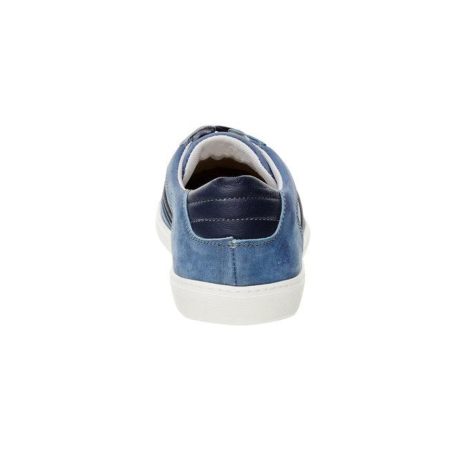Ležérne tenisky z brúsenej kože bata, modrá, 846-9638 - 17