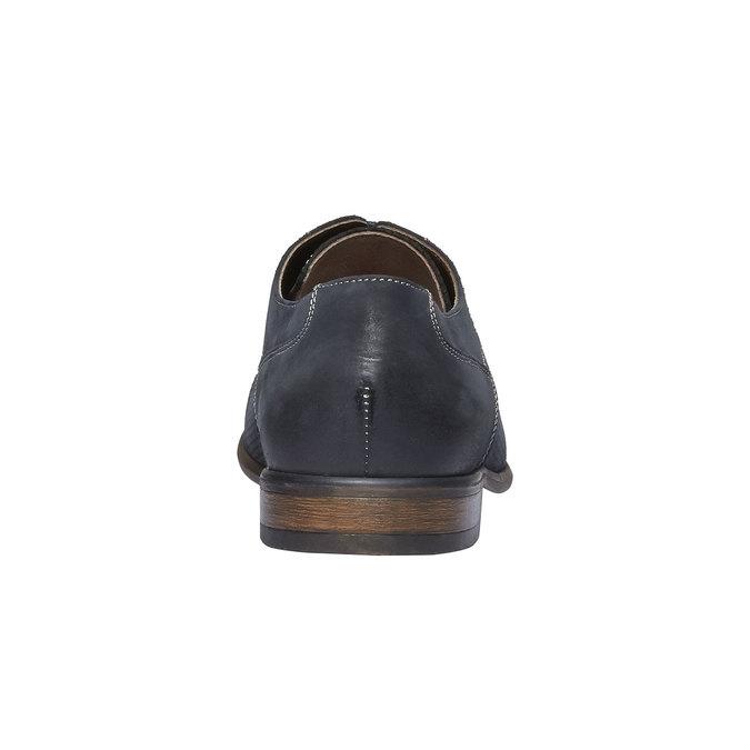 Ležérne kožené poltopánky bata, čierna, 826-6832 - 17