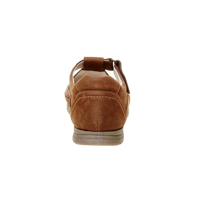 Pánske kožené sandále comfit, hnedá, 866-4184 - 17
