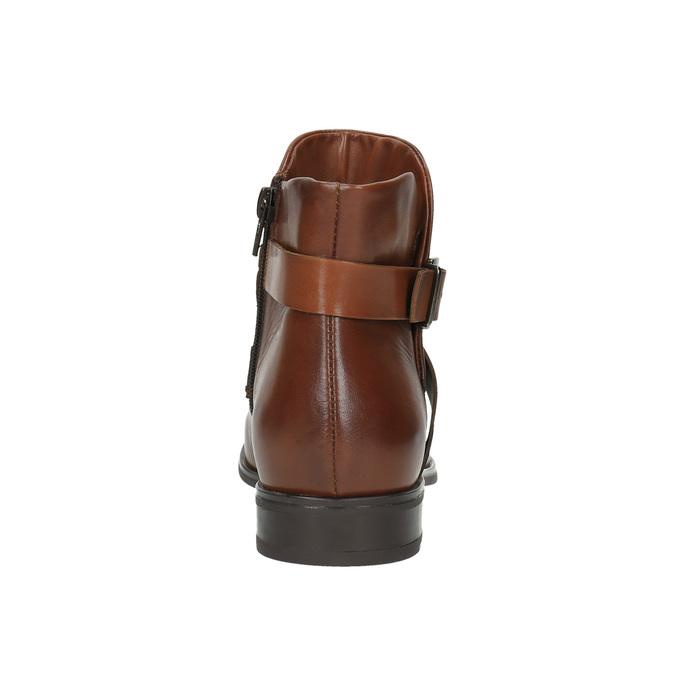 Kožená členková obuv s prackou bata, hnedá, 594-4602 - 17