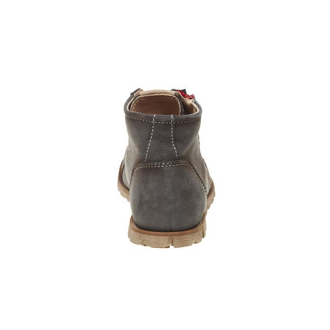 Kožené členkové tenisky so zipsom weinbrenner, šedá, 596-9110 - 17