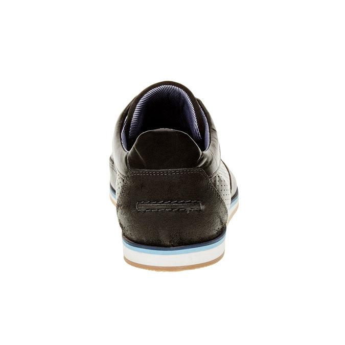 Ležérne kožené poltopánky bata, čierna, 824-6290 - 17