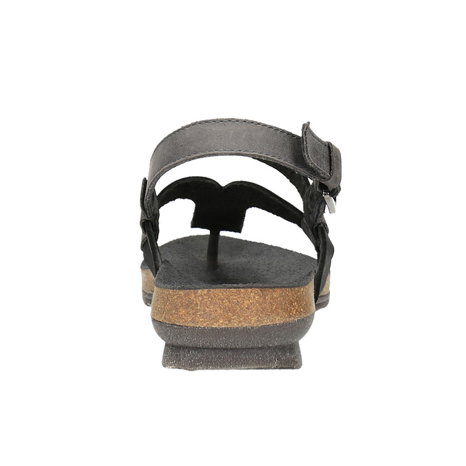 Dámske kožené sandále weinbrenner, čierna, 566-6101 - 17