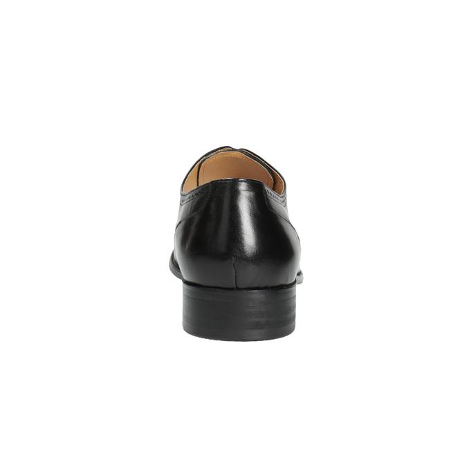 Kožené poltopánky v Oxford strihu bata, čierna, 824-6642 - 17