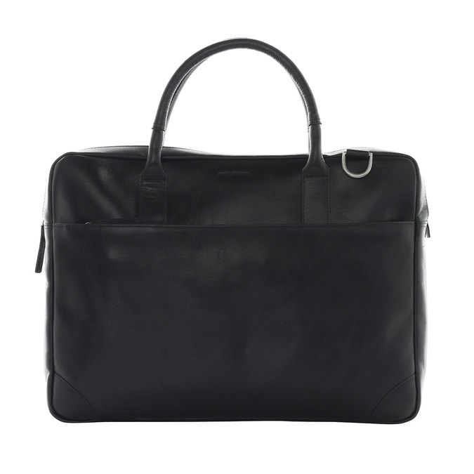 Kožená taška s popruhom royal-republiq, čierna, 964-6199 - 26