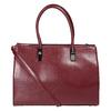 Červená kabelka s pevným dnom bata, červená, 961-5879 - 26
