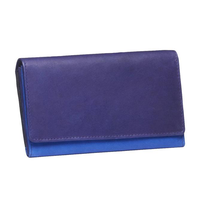 Dámska kožená peňaženka bata, modrá, 944-9156 - 13