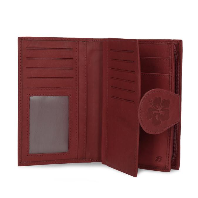 Dámska kožená peňaženka bata, červená, 944-5155 - 15