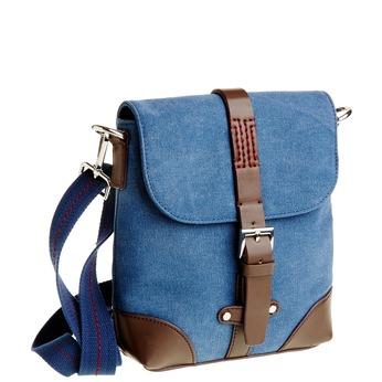 Pánska Crossbody taška s klopou bata, modrá, 969-9284 - 13