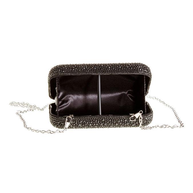 Listová kabelka v štýle Miniaudière bata, čierna, 969-6350 - 15