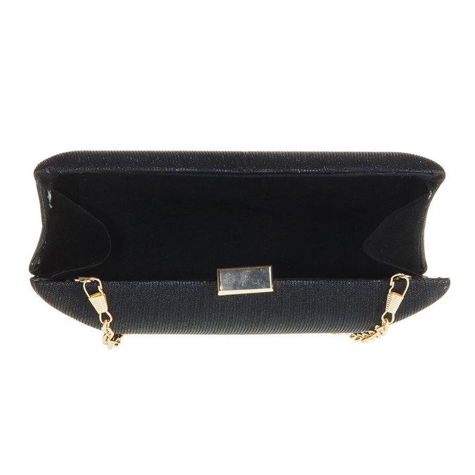 Listová kabelka v štýle Miniaudière bata, čierna, 969-6237 - 15