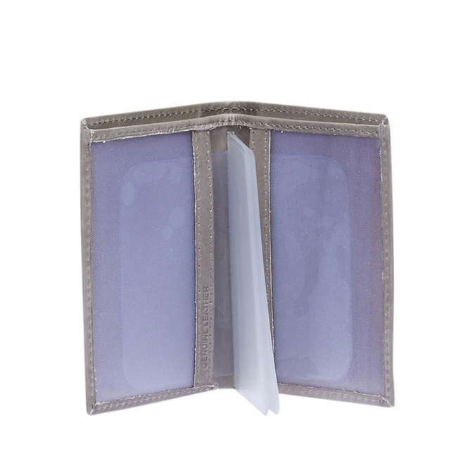 Kožené púzdro na karty bata, šedá, 944-2158 - 15