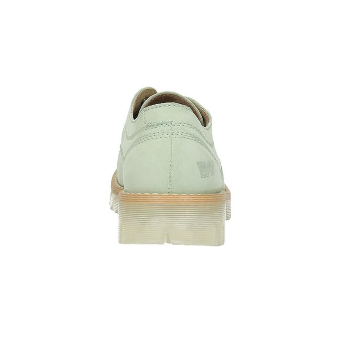 Kožené poltopánky na priehladnej podrážke weinbrenner, zelená, 526-7608 - 17