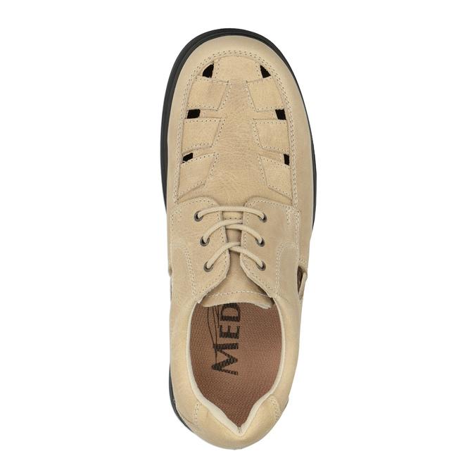 Pánská kožená zdravotní obuv medi, béžová, 854-8205 - 19