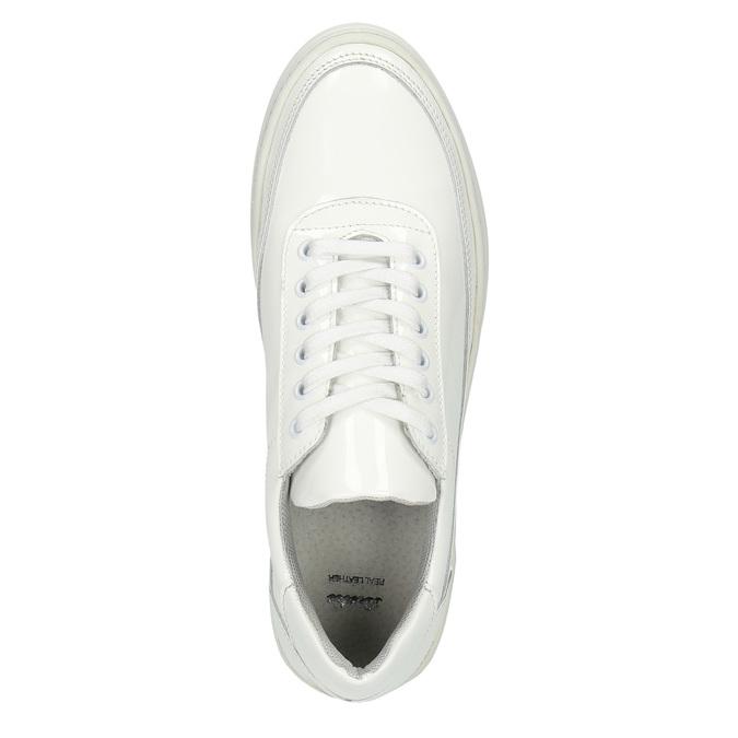 Biele kožené tenisky bata, biela, 528-1632 - 19