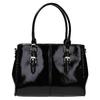Čierna kabelka v lakovanej úprave bata, čierna, 961-6619 - 19