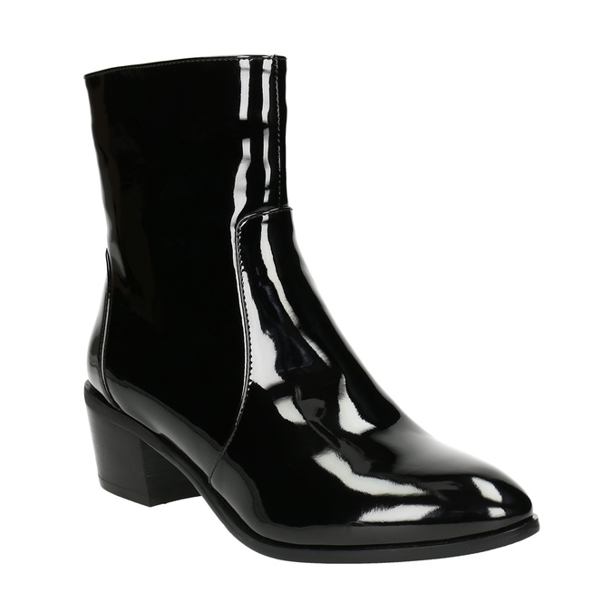 Členková obuv bata, čierna, 691-6630 - 13