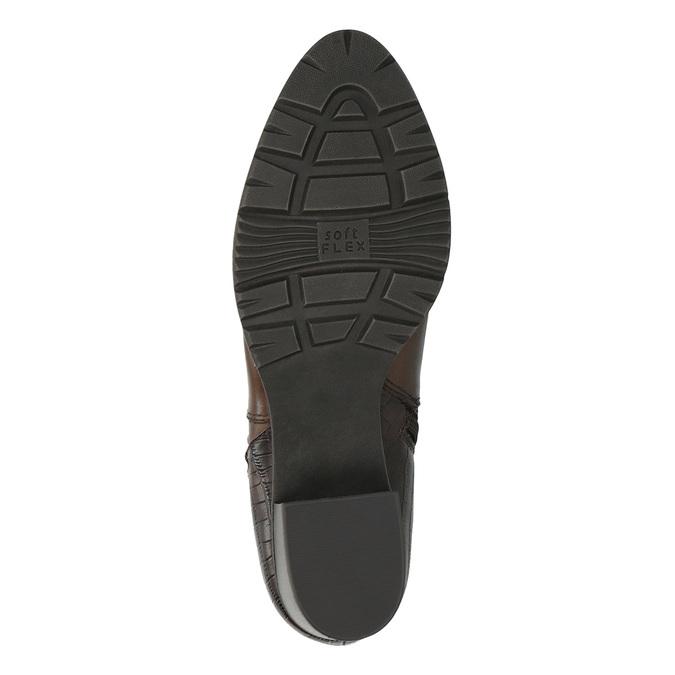 Dámska členková obuv šírky H bata, hnedá, 696-4616 - 26