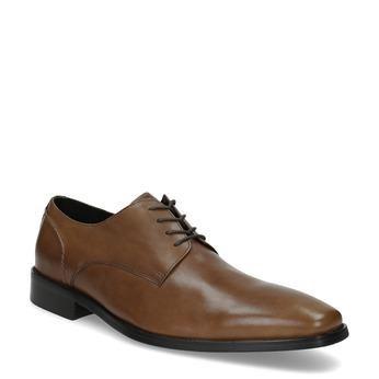 Hnedé kožené Derby poltopánky bata, hnedá, 826-3646 - 13
