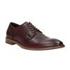 Vínové kožené poltopánky bata, červená, 826-5645 - 13