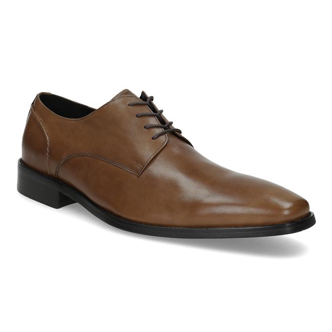 Hnedé kožené pánske Derby poltopánky bata, hnedá, 826-3646 - 13