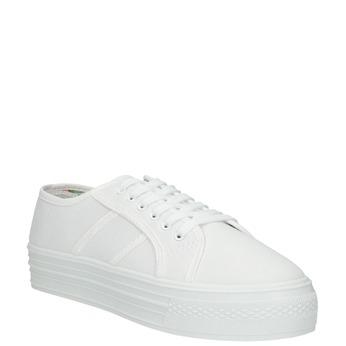 Biele dámske tenisky bata, biela, 529-1630 - 13