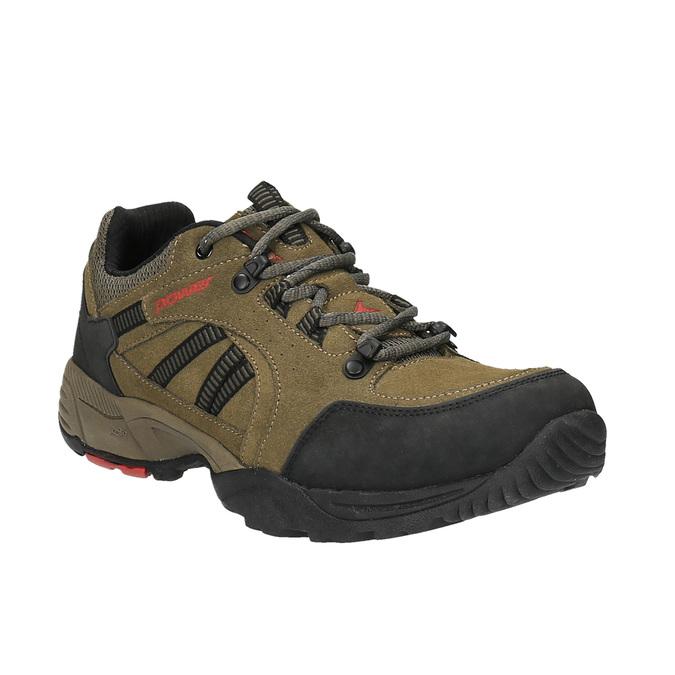 Kožená obuv v Outdoor štýle power, hnedá, 803-3109 - 13