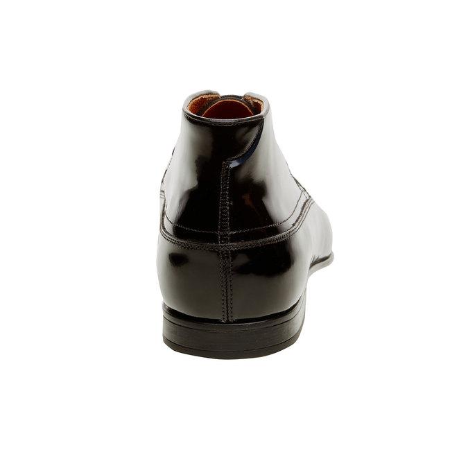 Členkové poltopánky z lakovanej kože bata, čierna, 898-6797 - 17