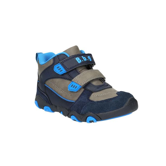Chlapčenská členková obuv na suchý zips bubblegummer, modrá, 291-2600 - 13