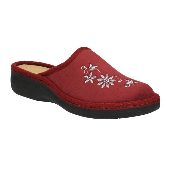 Dámska domáca obuv bata, červená, 579-5348 - 13