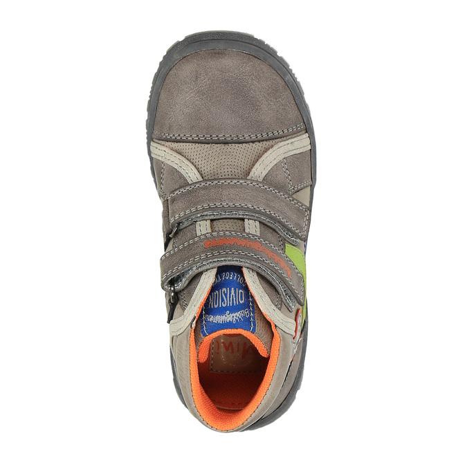 Detská členková obuv na suchý zips mini-b, hnedá, 211-2605 - 19