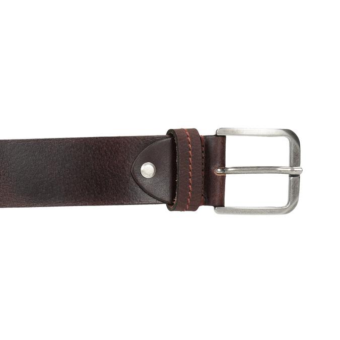 Hnedý kožený opasok bata, hnedá, 954-3106 - 26