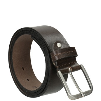Pánský kožený opasok bata, hnedá, 954-4106 - 13