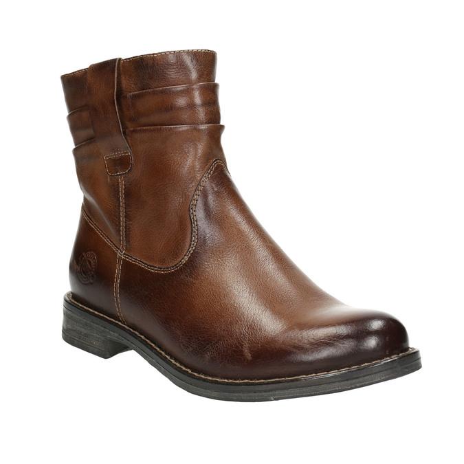 Kožená členková obuv ve Western štýle bata, hnedá, 594-4611 - 13