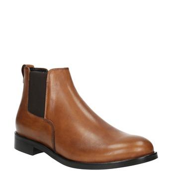 Dámske kožené Chelsea boots bata, hnedá, 594-3902 - 13