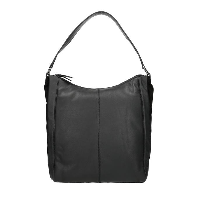 Kožená kabelka v Hobo štýle čierna bata, čierna, 964-6254 - 26