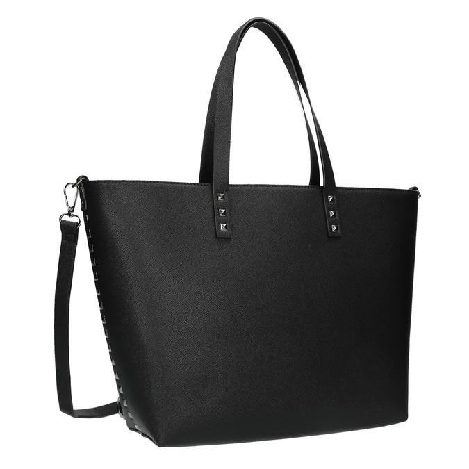Shopper kabelka s pevným dnom bata, čierna, 961-6647 - 13