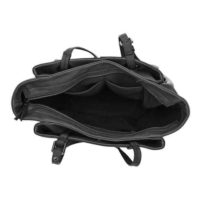 Kabelka v štýle Tote Bag bata, čierna, 961-6123 - 15