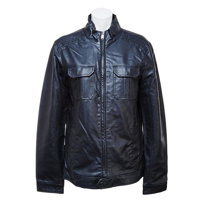 Pánska bunda s náprsnými vreckami bata, čierna, 971-6169 - 13