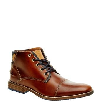 Kožená členková obuv pánska bata, hnedá, 894-4620 - 13