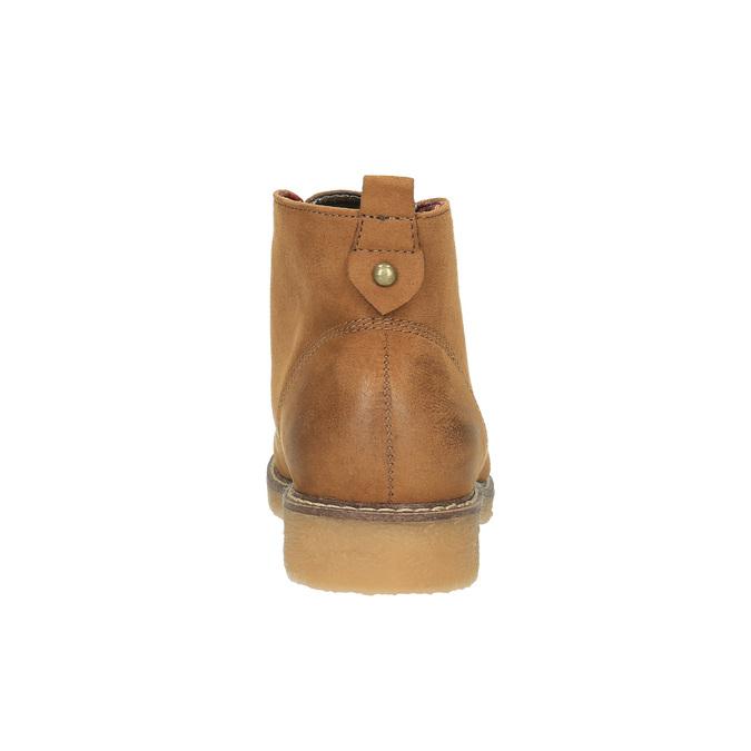 Dámska členková obuv s farebnou podšívkou bata, hnedá, 599-4605 - 17