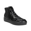 Kožená členková obuv so zvieracím vzorom bata, čierna, 546-6601 - 13