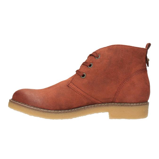Dámska členková obuv s farebnou podšívkou bata, oranžová, 599-5605 - 26
