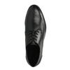 Pánske kožené poltopánky s ležérnou podrážkou bata, čierna, 824-6728 - 19