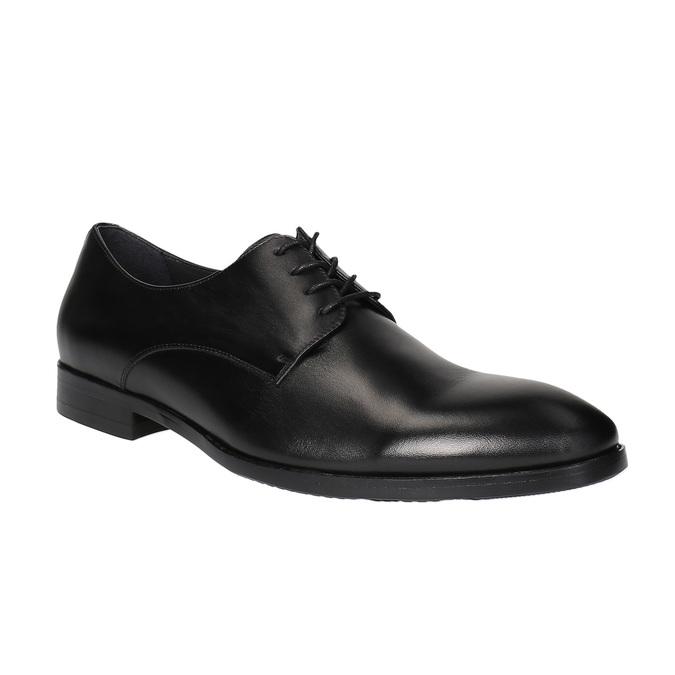 Čierne kožené poltopánky bata, čierna, 824-6732 - 13