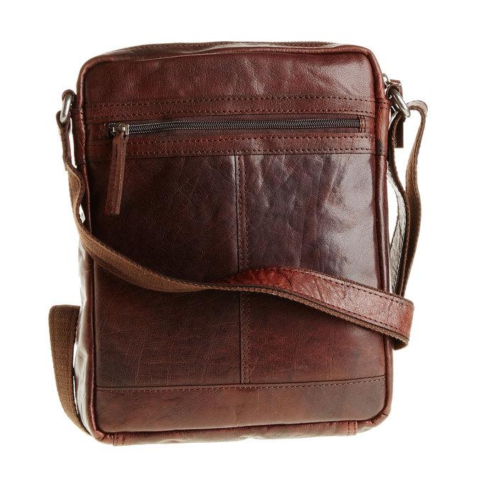 Pánska kožená  Crossbody taška bata, hnedá, 964-4180 - 26